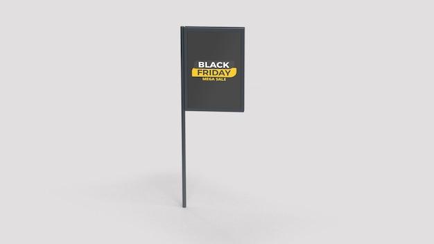 Black friday street advertisment pole mockup