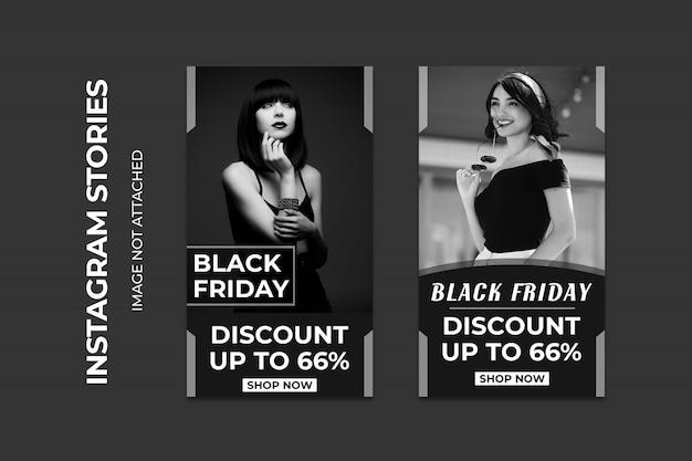 Black friday super sale social web banners premium