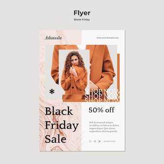 Black friday template flyer
