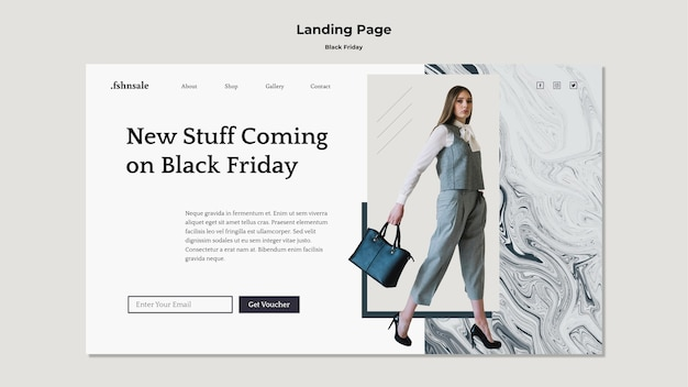 Black friday template landing page