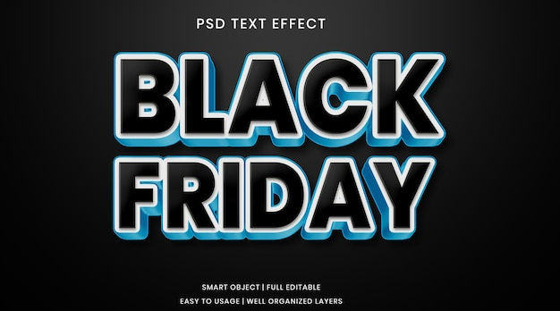 Black friday text effect template