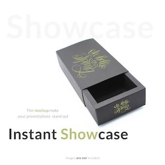 Black gift box mock up