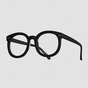 흰색 위에 검은 안경
