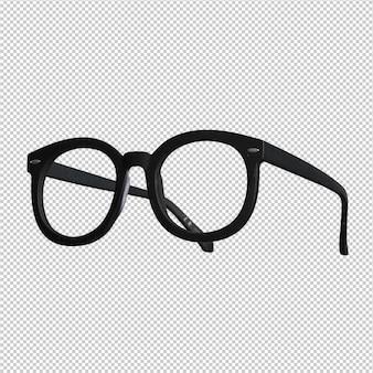 Black glasses over white