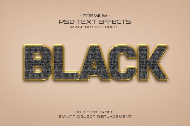 Эффект стиля текста из черного золота