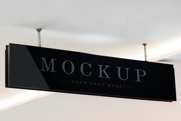Black hanged signage
