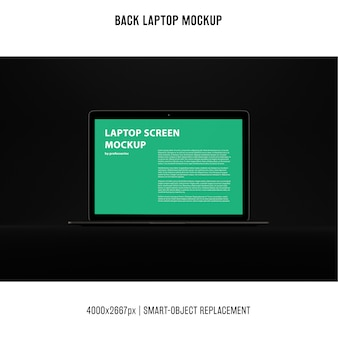 Black laptop mockup