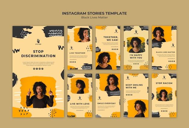 Black lives matter instagram stories template