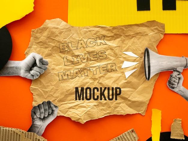 흑인 생활 문제 모형 배열