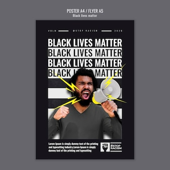 Black lives matter poster template