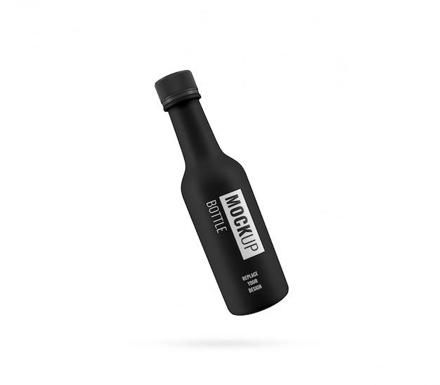 Реалистичная черная роскошная бутылка