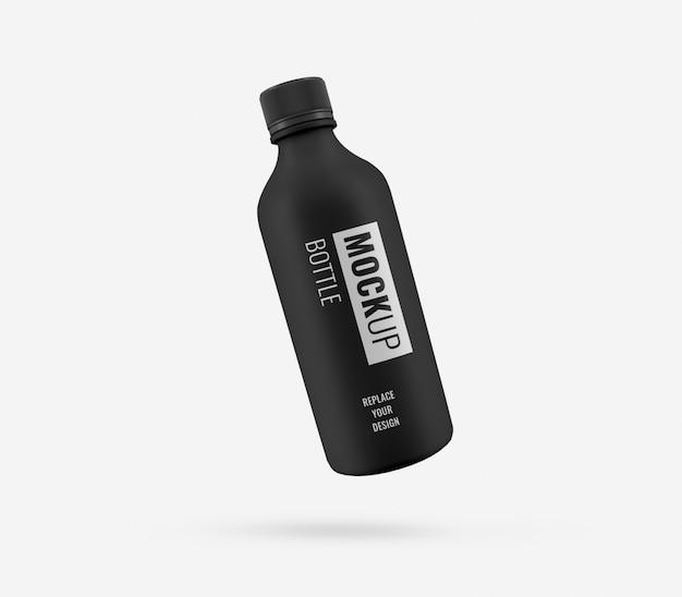 黒の高級飲料ボトルモックアップ