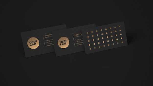 Black luxury premium business card mockup