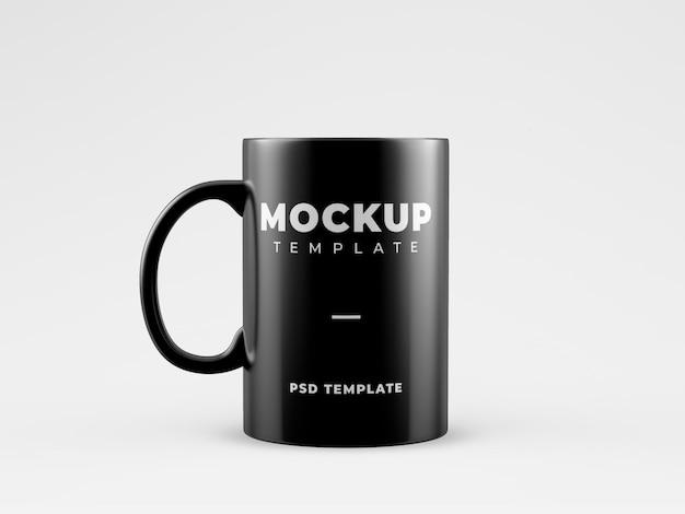 Black mug mockup template