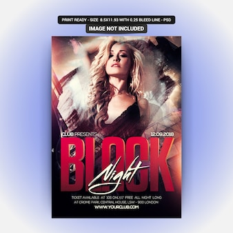 Black Night Party Flyer