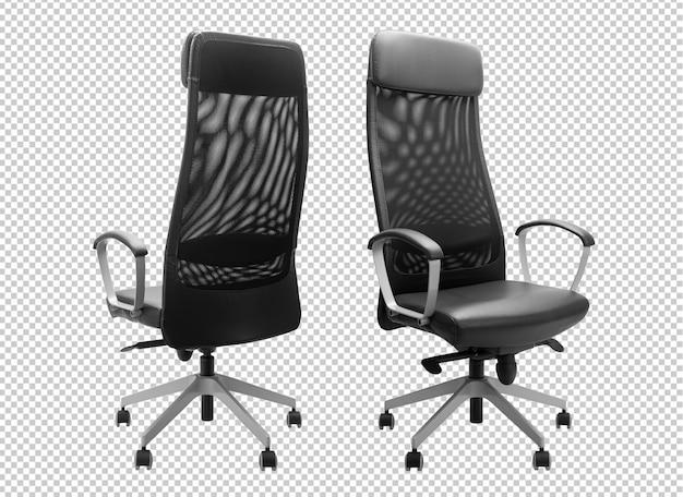 Черный офисный стул макет шаблона.