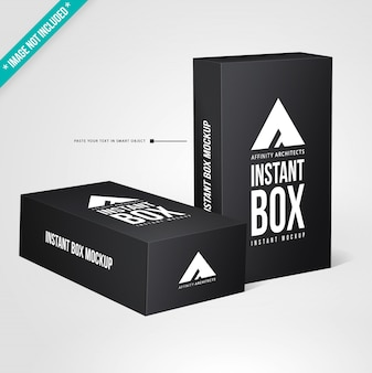 Black packaging mockup