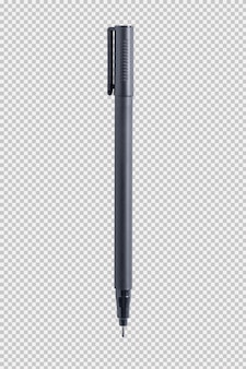 Black pen isolated on white background