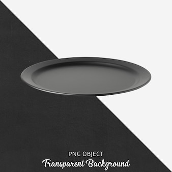 透明な背景に黒のプレート