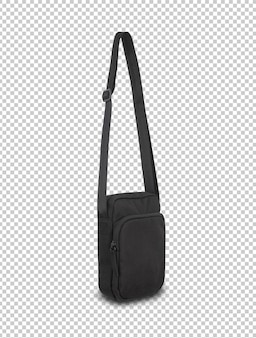 Black pocket bag mockup template for your design.