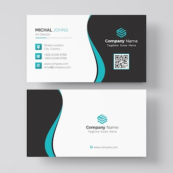 Black and red business card template
