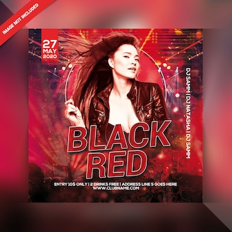 Black red party flyer