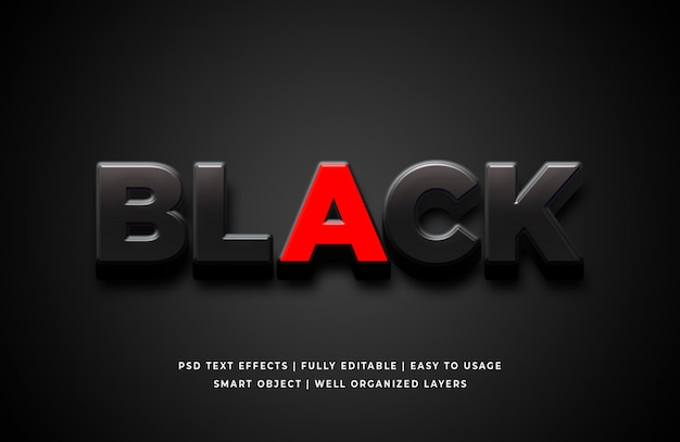 Black and red text effect