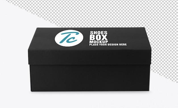 Черная обувная коробка макет для вашего дизайна