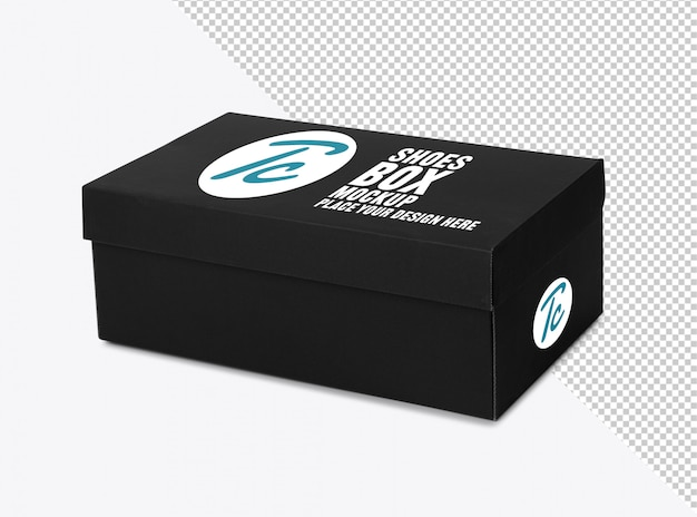Black shoe box mockup for your design