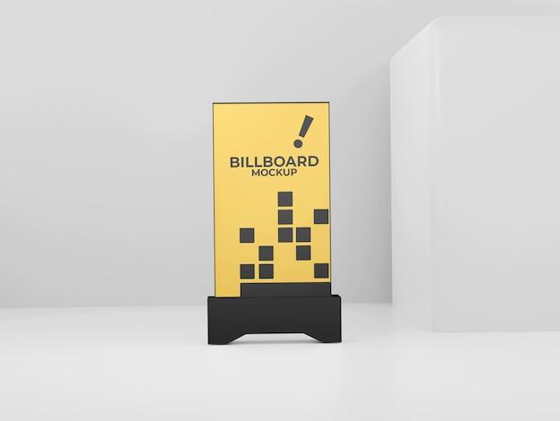 Черный простой макет рекламного щита