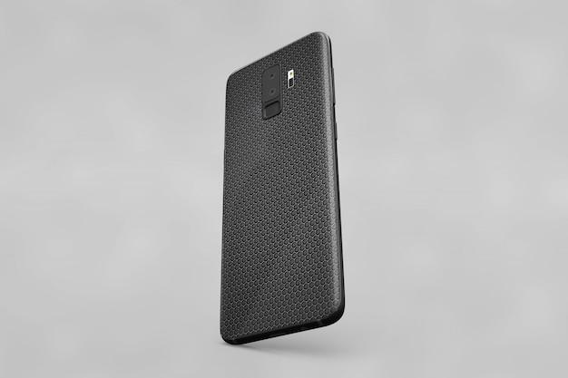 Black smartphone cover mockup