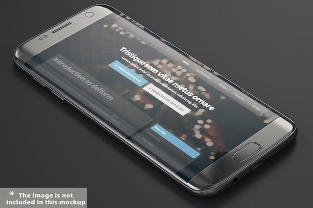 Black smartphone mock up