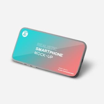 あなたのデザインのための黒いスマートフォンのモックアップ