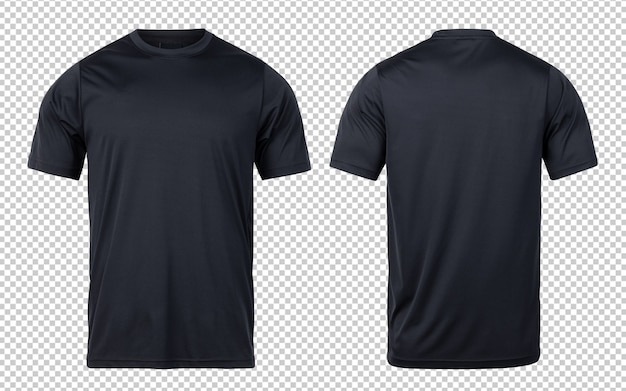 Black sport t-shirts front and back mock-up template for your design.