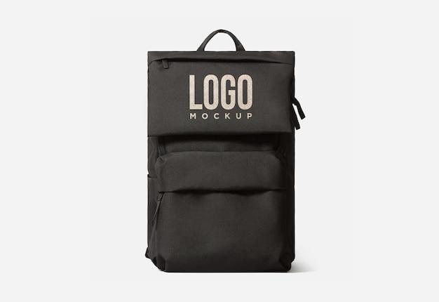 Черная сумка для учебы, дизайн логотипа, мокап psd