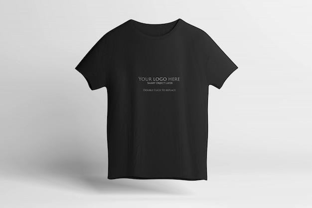 黒のtシャツのモックアップ