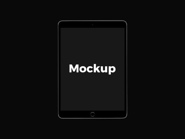 Black tablet mock up