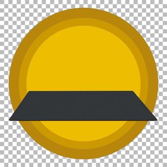 Черный планшет на прозрачном фоне