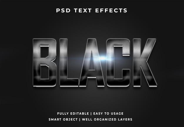 Редактируемый эффект черного текста