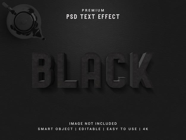 黒のテキスト効果のモックアップ。