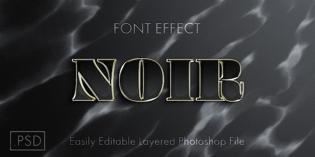 Black text style effect mockup