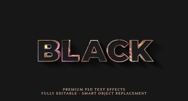 Черный текстовый эффект, премиальные текстовые эффекты