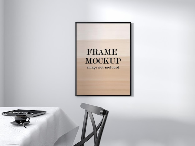 Black thin frame mockup