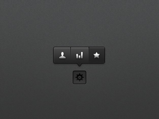 Black tooltip menu psd material