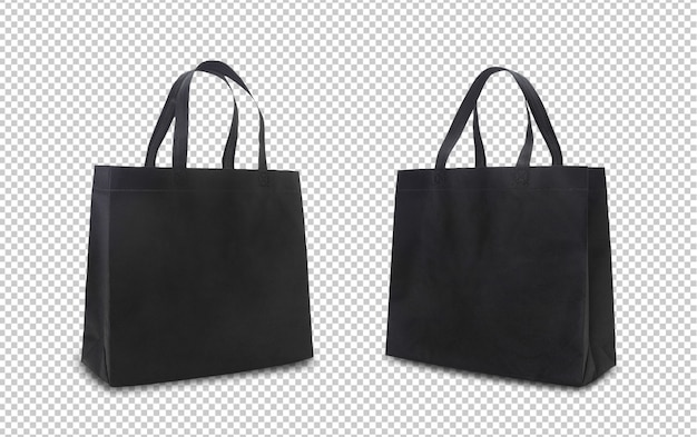 Black tote shopping bags mock-up