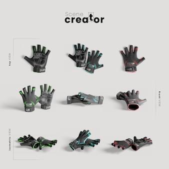 Black training gloves mock-up