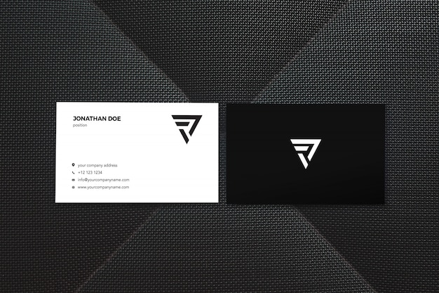 Black two business card mockup