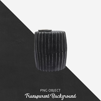 Black vase or flowerpot on transparent Premium Psd