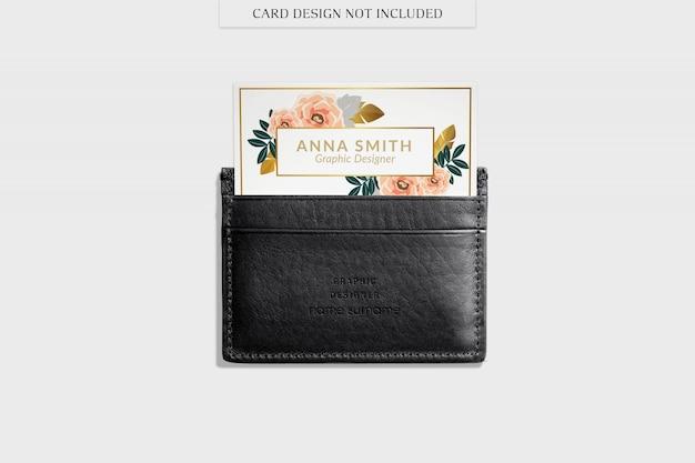 Black wallet mockup