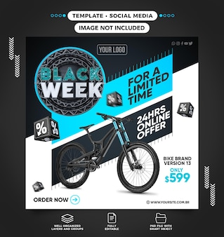 Black week bike social media feed on limited time offer